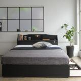 組立簡単!キャスター付き収納ベッドでお部屋スッキリ。厳選おすすめ引き出し収納ベッド。
