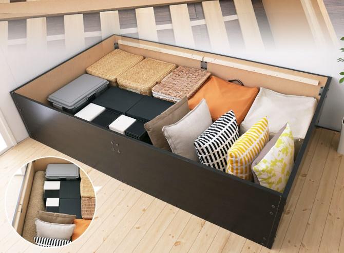 畳ベッド い草張り収納ベッド シングル