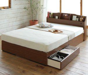 収納ベッド ステラ ブラウン
