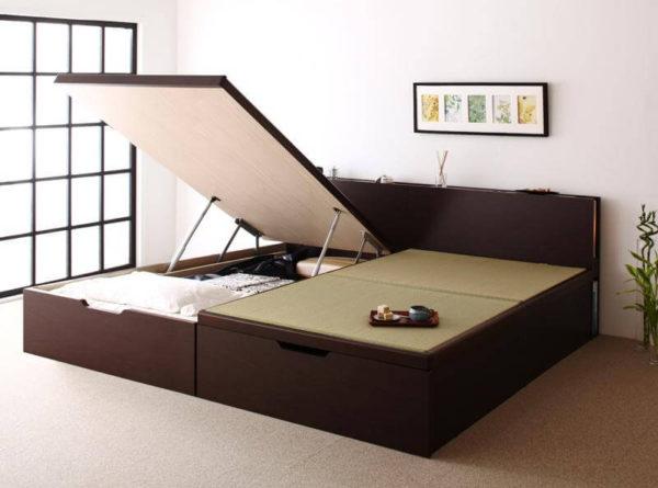 畳ベッド 跳ね上げ 収納 月花