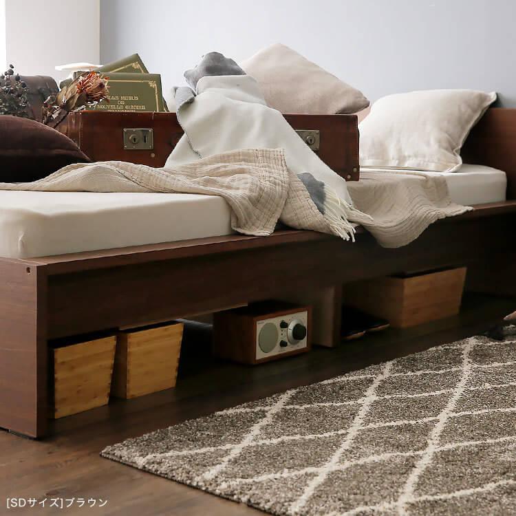 引き出しをセットしない側は、収納ボックスなどで仕切れば、収納スペースに。フリースペースを有効活用できます